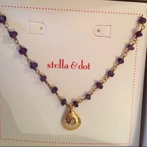 La Folie Necklace - Stella & Dot Amethyst Quartz